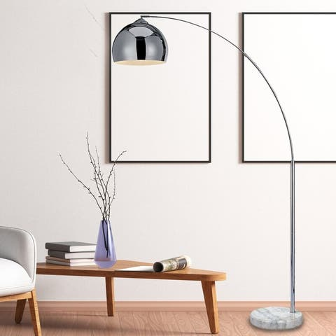 """Archiology Arc Floor Lamp 67"""" With Marble Base"""