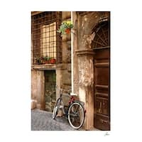 ''Bicycle at the Door'' by Igor Maloratsky Transportation Art Print (19 x 13 in.)