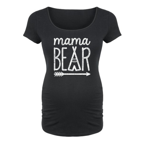 675d0e16bdd6e Shop Mama Bear - Maternity Scoop Neck Tee - On Sale - Free Shipping On  Orders Over $45 - Overstock - 20401106