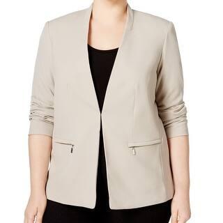 Calvin Klein NEW Beige Khaki Women's Size 18W Plus Zip-Pocket Jacket|https://ak1.ostkcdn.com/images/products/is/images/direct/d2e89b8619c3e325ae5ecb54f437a01476c970c6/Calvin-Klein-NEW-Beige-Khaki-Women%27s-Size-18W-Plus-Zip-Pocket-Jacket.jpg?impolicy=medium