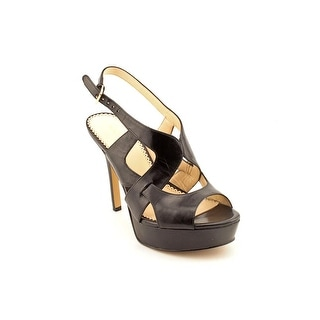 Nine West Fontia Women Open-Toe Leather Slingback Sandal