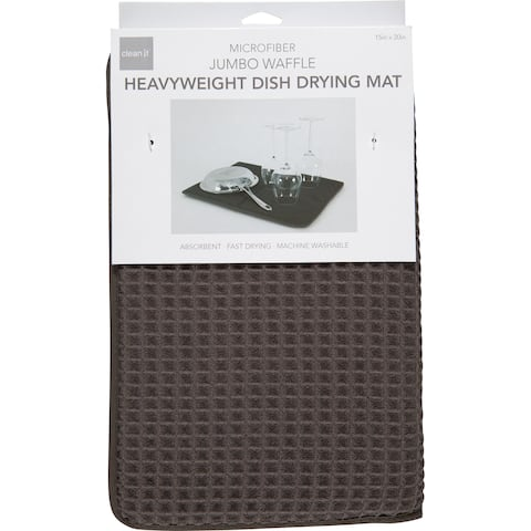 Harold Import 02982PW Dish Drying Mat, Pewter