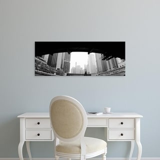 Easy Art Prints Panoramic Images's 'Low angle view of buildings, Chicago, Illinois, USA' Premium Canvas Art