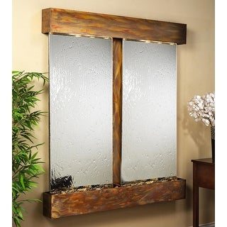 Adagio Cottonwood Falls Fountain w/ Silver Mirror in Blackened Copper Finish