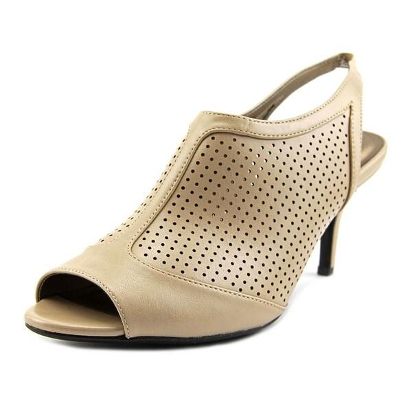 Life Stride Norwood Peep-Toe Synthetic Slingback Heel