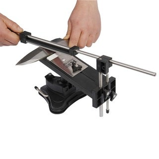 Professional Fix-angle Kitchen Knife Sharpener System Hand Sharpening with 4 Stones