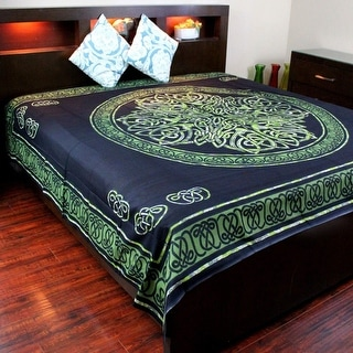 New 60x90 Green Celtic Tree of Life Tapestry Coverlet Bedspread Wall Decor Gift