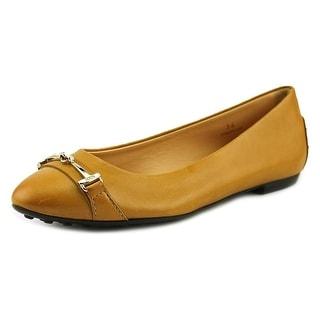 Tod's Ball Gmma Od Mor Doppia T Mcro Pointed Toe Leather Flats