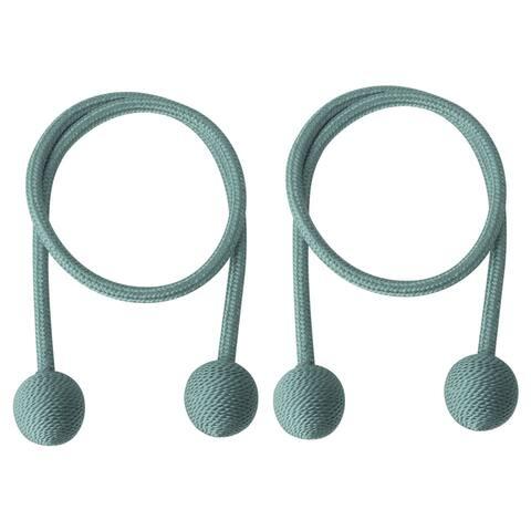 "2pcs Curtain Tieback 25.6"" Holdback Decor Rope Curtain Holders, Blue - 25.6"" Length"