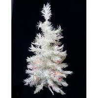 2' Pre-Lit LED Snow White Artificial Christmas Tree - Multi Lights