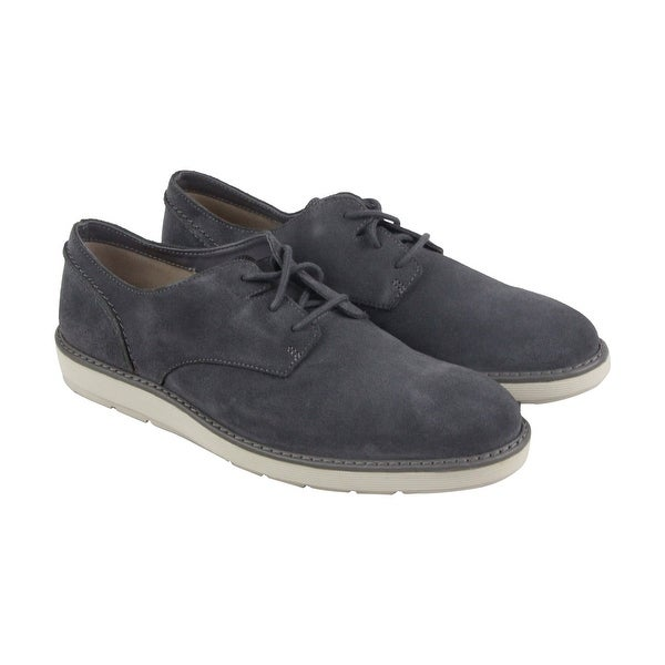 Clarks Fayeman Lace Mens Gray Suede Casual Dress Lace Up Oxfords Shoes