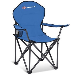 Goplus Folding Durable Camping Chair High Load-bearing Beach Chair For