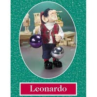 "10.5"" Zims The Elves Themselves Leonardo Collectible Christmas Elf Figure"
