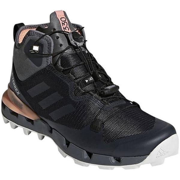 itálico Nylon contraste  Shop adidas Women's Terrex Fast Mid GORE-TEX Surround Hiking Shoe  Black/Grey Five/Chalk Coral - Overstock - 19738988