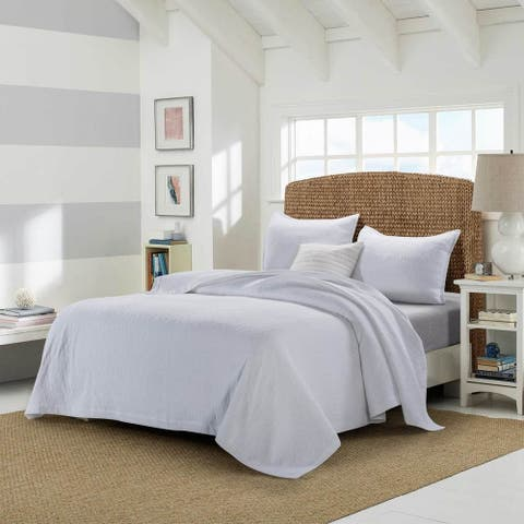 Premium Cotton Matelasse Stripe Coverlet Set