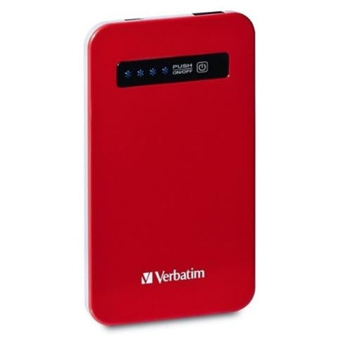 Verbatim VER98453 Ultra-Slim Power Pack USB 4200 mAh-Red