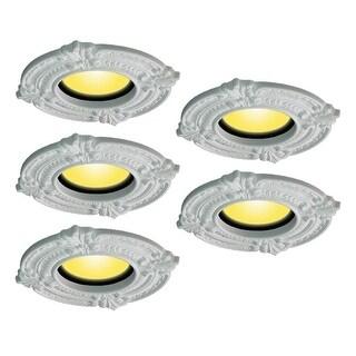 Spot Light Trim Medallions 6 ID Urethane White Set of 5
