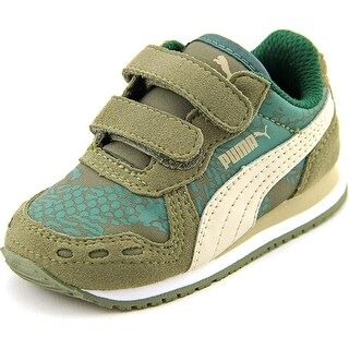 Puma Cabana Racer NL Ca Youth Round Toe Suede Green Sneakers