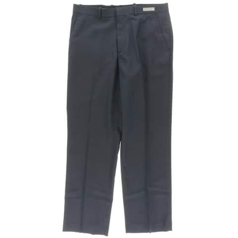 Perry Ellis Portfolio Mens Dress Pants Pindot Flat Front