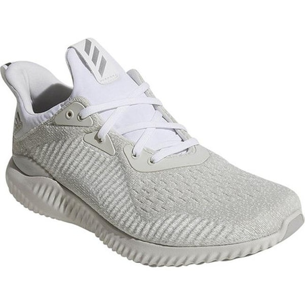 ec0613277 Shop adidas Men s AlphaBOUNCE EM Running Shoe White Silver Metallic ...
