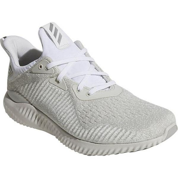 check out 31fd6 592a8 Shop adidas Men's AlphaBOUNCE EM Running Shoe White/Silver ...