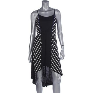 As U Wish Womens Juniors Striped Hi-Low Party Dress - S