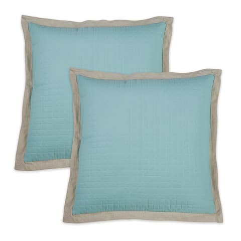 Quilted Throw Pillow Cover (Set of 2)