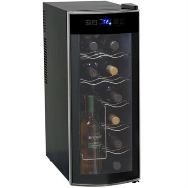 Avanti EWC1201 12 Bottle Wine Cooler - black/platinum