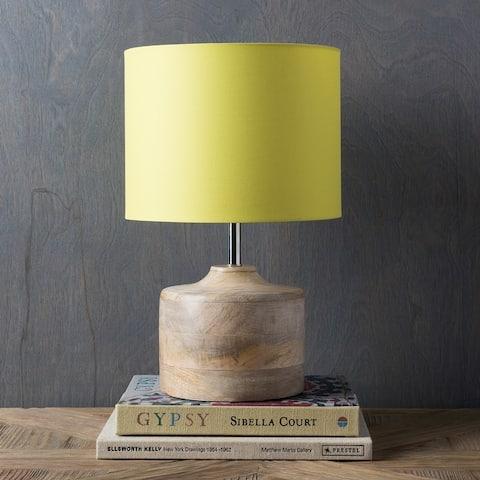 Rustic Ongar Table Lamp with Natural Finish Wood/Metal Base