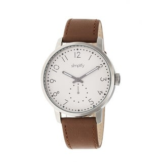 Simplify The 3400 Unisex Quartz Watch, Genuine Leather Band, Luminous Hands