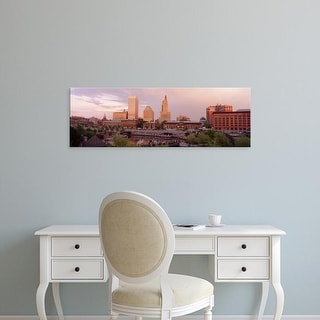 Easy Art Prints Panoramic Images's 'Waterplace Park Skyline Providence Rhode Island USA' Premium Canvas Art