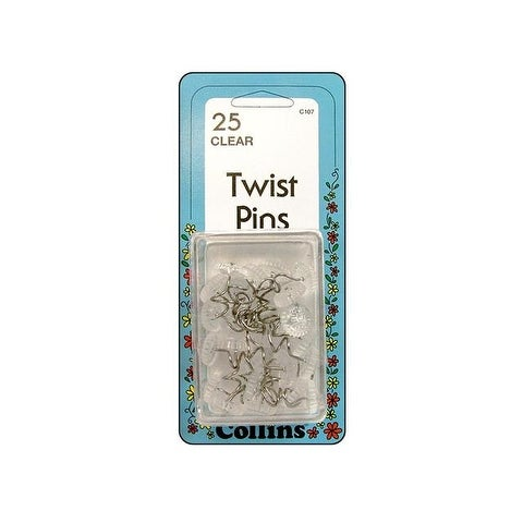 Collins Twist Pins Clear 25pc