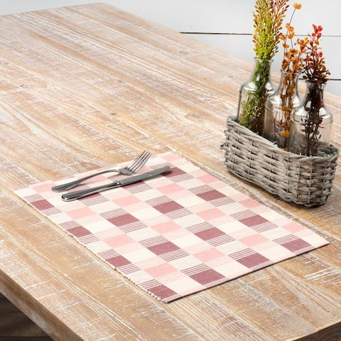Daphne Ribbed Placemat Set of 6 12x18 - Placemat 12x18