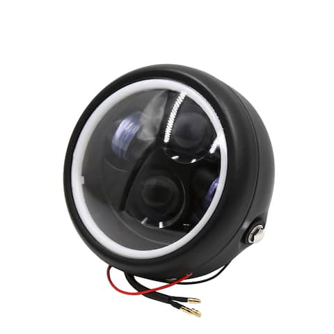 "12V 35W 6.3"" Motorcycle White Projector LED Headlight Driving Light for Harley"