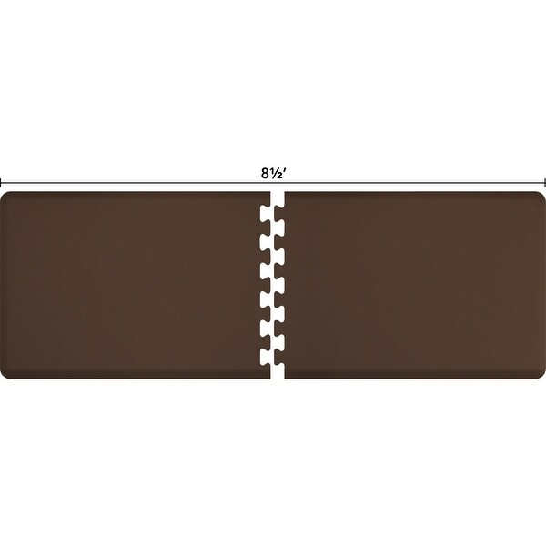 WellnessMats Anti-Fatigue Office & Kitchen Mat, PuzzlePiece Collection R Series, 8.5 Feet by 3 Feet, Brown