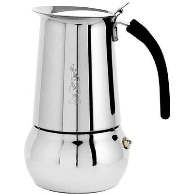 Bialetti Kitty Espresso Coffee Maker, Stainless Steel, 6 cup - 8' x 11'