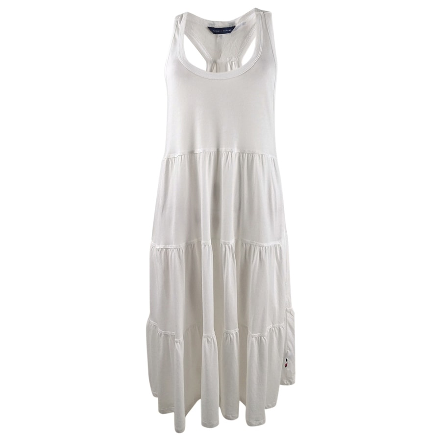 Tommy Hilfiger Womens Tiered Racerback Dress Swim Cover-Up