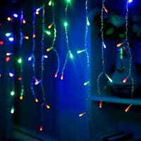 300LED Solar Waterproof Curtains Light 8 model 2400mah High Capacity Battery Lights Multi-color