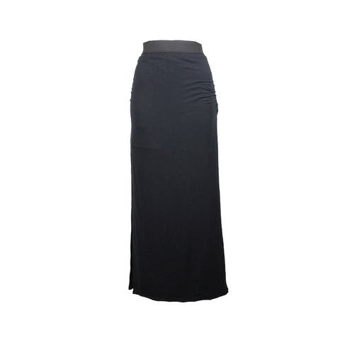 Inc International Concepts Black Side-Slit Maxi Skirt S