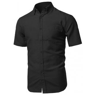 NE PEOPLE Men's Casual Short Sleeve Button Down Oxford Shirts (NEMT67)