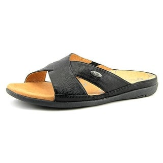 Acorn Prima Cross Slide Open Toe Leather Slides Sandal