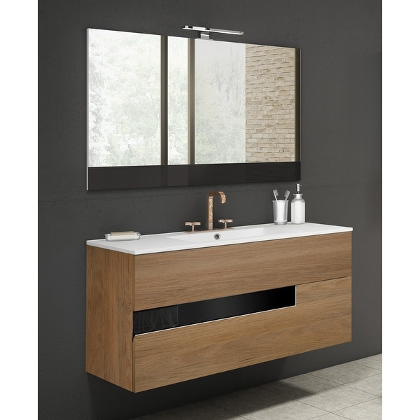 """Lucena Bath 2 Drawer 40"""" Vision Vanity with Ceramic Sink. Opens flyout."""