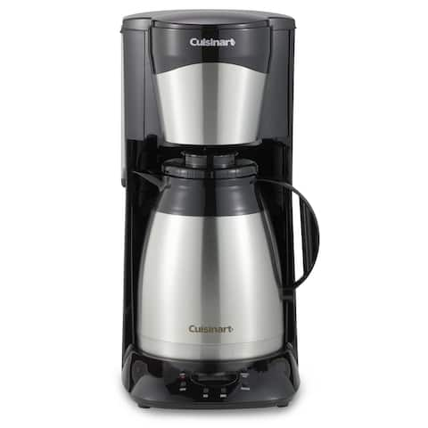 Cuisinart DTC-975BKN 12 Cup Programmable Thermal Coffeemaker, Black & Stainless