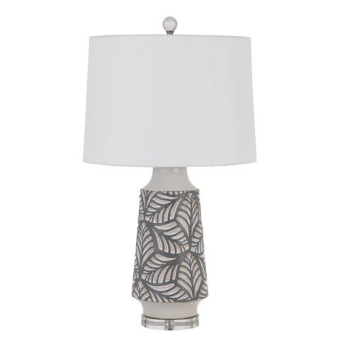 Burgin Pearly Ceramic Table Lamp with Shade