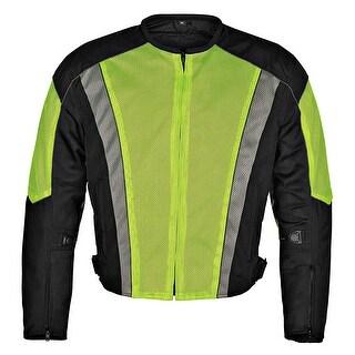 Men's Dallas Textile Motorcycle Jacket WaterProof Yellow MBJ054-1