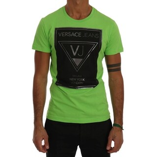 Versace Jeans Versace Jeans Green Cotton Crewneck T-shirt - XS