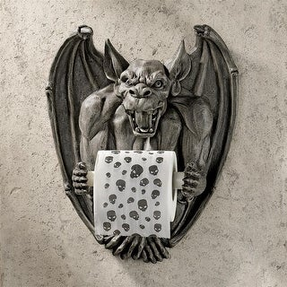FLUSH GARGOYLE TOILET TISSUE HOLDER DESIGN TOSCANO TP holder gothic decorations