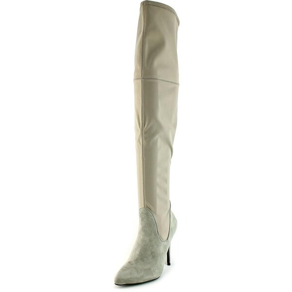 Charles By Charles David Premium Women Pointed Toe Canvas Over the Knee Boot