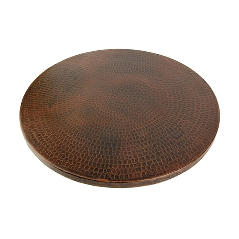 Premier Copper Products LS20DB 20-inch Hammered Copper Lazy Susan