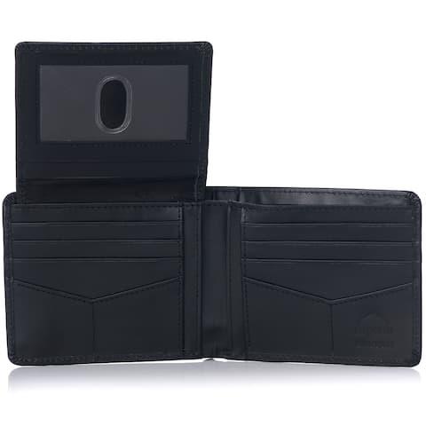 Alpine Swiss RFID Mathias Mens Wallet Deluxe Capacity Passcase Bifold - One Size